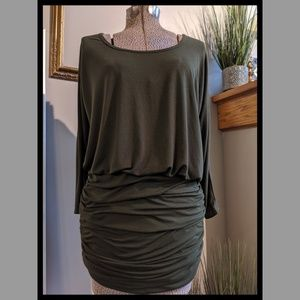 Venus long tunic with ruched bottom